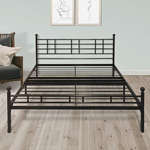 Best Price Mattress King Frame 12 Inch Metal Platform Bed With Patented Easy Setup Steel Slats A Metal Platform Bed Bed Frame And Headboard Bed Frame