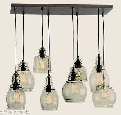 pottery barn paxton glass 8 light pendant chandelier new chandelier pendant lighting