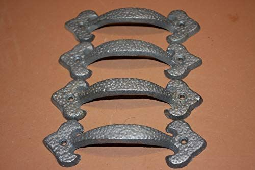 Hand Forged Drawer Pulls Hammered Industrial Loft Handles Drawer