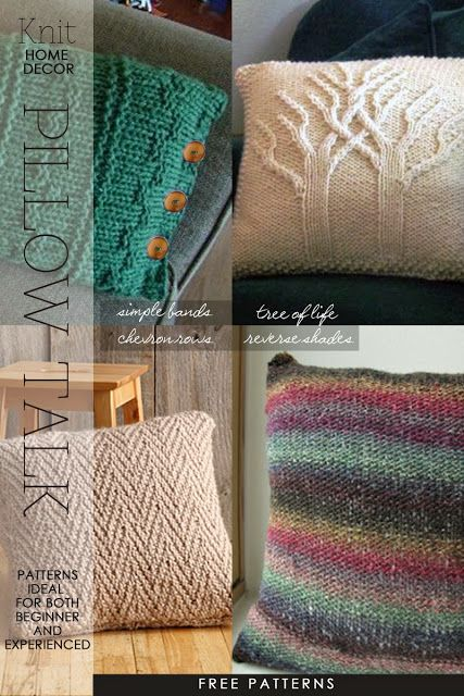 Modern Knitted Pillow : Free pattern, Living room modern and Pillows on Pinterest