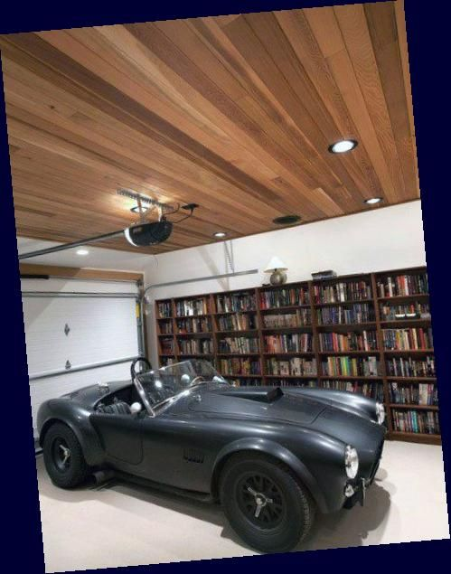 Plank Boards Br Wood Plank Boards Garage Ceiling Ideas From Wood Beams To Metal Sheeting Painted Drywall In 2020 Garage Lighting Man Cave Garage Led Garage Lights
