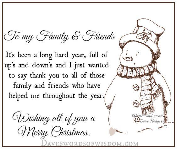 Daveswordsofwisdom Com Merry Christmas To My Family Friends Christmas Quotes For Friends Merry Christmas Quotes Family Merry Christmas Quotes