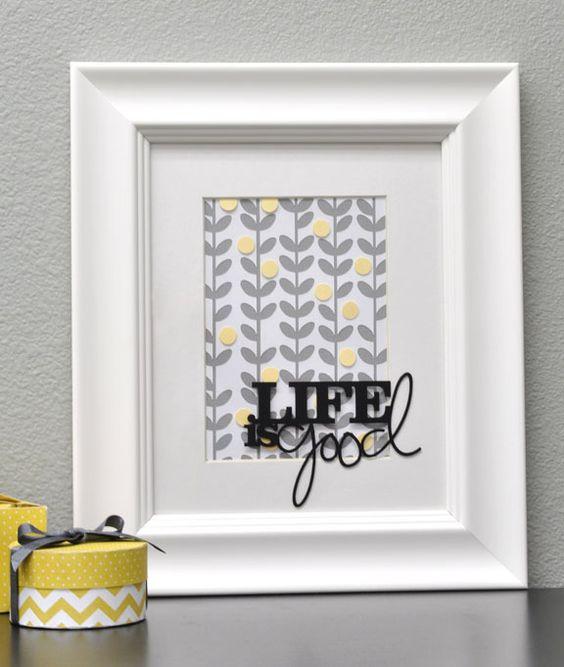 Silhouette Blog: FREE Shape of the week :: Life is Good Framed Art: Gift Ideas For Teachers, Silhouette Blog, Shape Life, Housewarming Gift, Blog Life, Silhouette Ideas, Hostess Gift