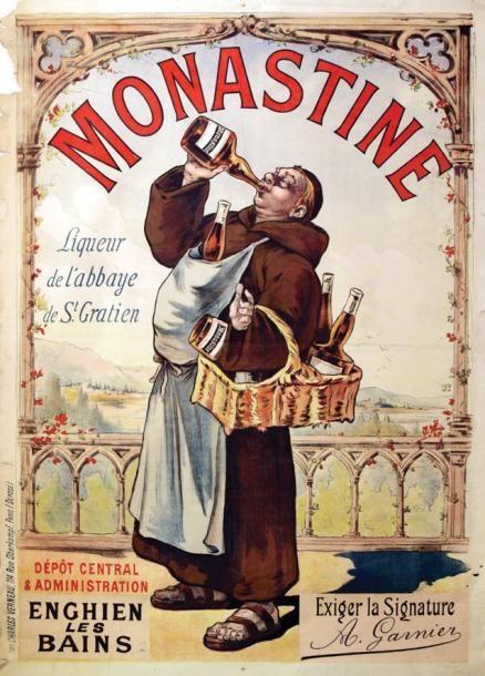 Monastine - Enghien-Les-Bains (Val d'Oise) - Liqueur de l'Abbaye de St Gratien - France -