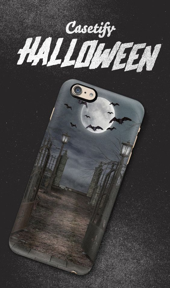 BOO Happy Halloween! Available for iPhone 6, iPhone 6 Plus, iPhone 5/5s, Samsung Cases and many more.