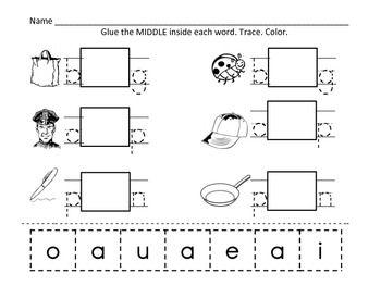 math worksheet : 1000 images about vowel sounds on pinterest  long vowels cut  : Vowel Sounds Worksheets For Kindergarten