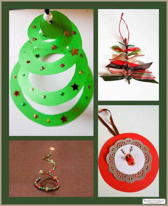 Günstige Anhänger für den Weihnachtsbaum mit Kindern basteln, Weihnachtsbaumschmuck und Geschenkanhänger basteln. Weihnachtliche  Bastelidee für Kinder **by: www.missmommypenyy.de ** Christmastree Ornaments craft idea, DIY Christmas Ornaments, great x-mas DIY craft Project for kids