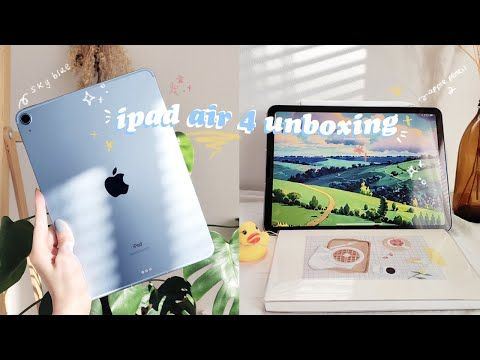 Ipad Air 4 Sky Blue 2020 Chill Asmr Unboxing Accessories An Aesthetic Study With Me Lol Youtub Ipad Air Ipad Air Accessories Ipad Air Wallpaper