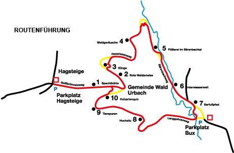 Walderlebnispfad Bärenbach bei Urbach Spielen, plantschen und beobachten http://www.urbach.de