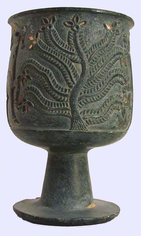 TREE OF lIFE - Jiroft, Iran - artifact decorated with tree of life. Late 3rd…
