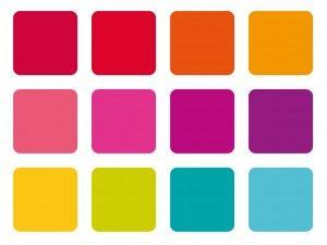 bright colour palette