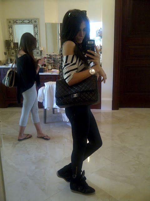 Leggings, crop top and Isabel Marrant black on black sneakers <3  www.jenniferstano.blogspot.com