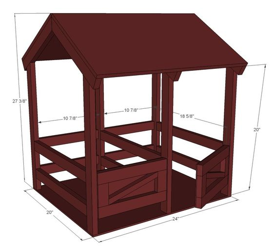 Ana white build a horse stables for american girl or 18 for Horse barn plans free