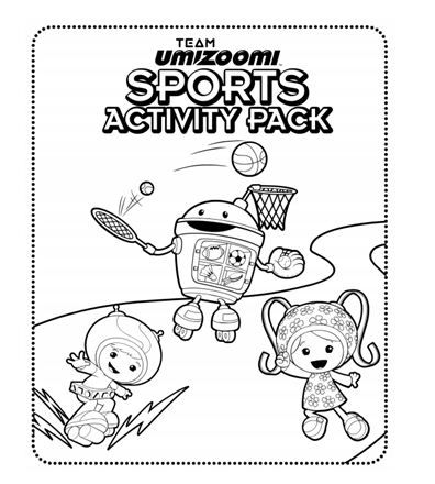 check out this sports themed activity pack which features team umizoomi outdoor active. Black Bedroom Furniture Sets. Home Design Ideas