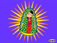 Virgen de Guadalupe moderna DIBUJOS A COLOR