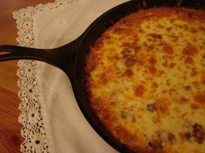 Hillbilly Spaghetti Pie {via Sugar Pie Farmhouse}
