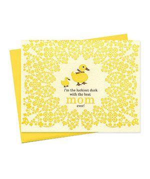 Night Owl Paper Goods Ducky Mom: Goods Ducky, Duckie Ideas, Ducky Mom, Ducks Nightowlpapergoods, Card Ideas, Mothers Day Cards, Craft Ideas, Duck Mothersday, Card Inspiration