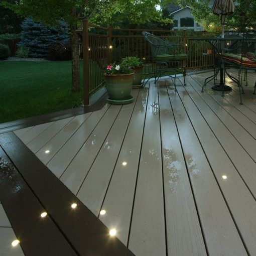 Dek Dots Outdoor Led Recessed Lighting Kit Flush Mount Led Deck Lighting Deck Lighting Rustic Outdoor Lighting Solar deck lights flush mount