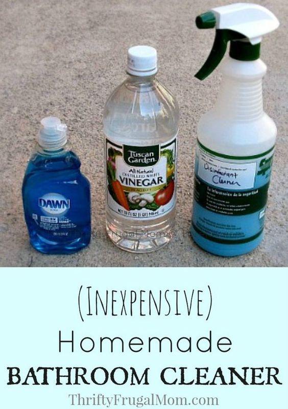Bathroom cleaners homemade bathroom cleaner and homemade for Homemade bathroom cleaner vinegar dawn