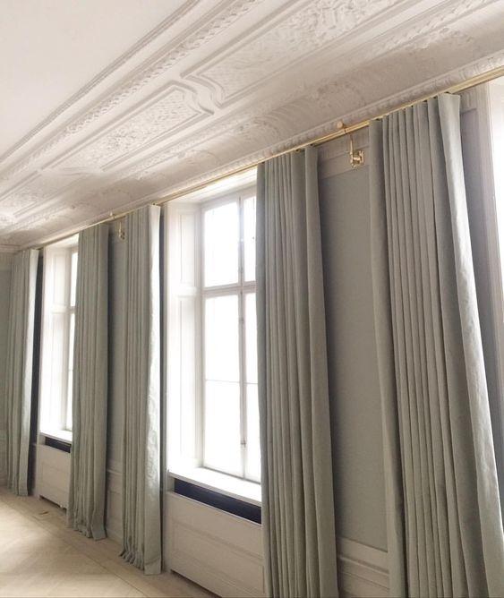 Bespoke Curtains At Harsdorffs Hus Aurora Tapetcafeproject Wallcolour Mizzle