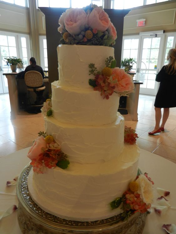 wwwcheesecakeetcbiz wedding cakes charlotte nc rough iced wedding cake with flowers