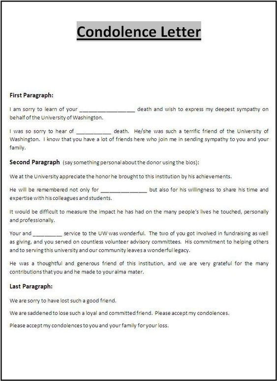 A Sample Condolence Letter Guide To Help You Write The Perfect