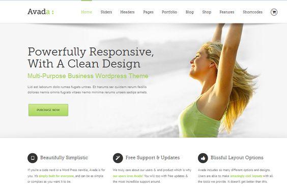 Modelo de Blog e Site Wordpress