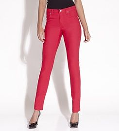 Colored Stretch Twill Skinny Jean by @Karen Kane