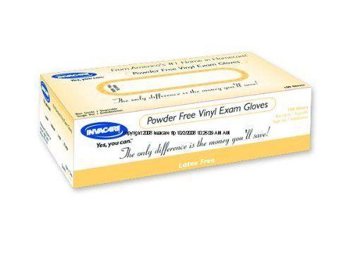 Invacare Powder-free Vinyl Exam Gloves Case of 1000 Size X-Large Powder Free Vinyl Invacare Supply Group ISG421VF4 (Case) by Invacare. $44.36. Nonsterile, ambidextrous, powder-free vinyl examination gloves. 100% latex-free.