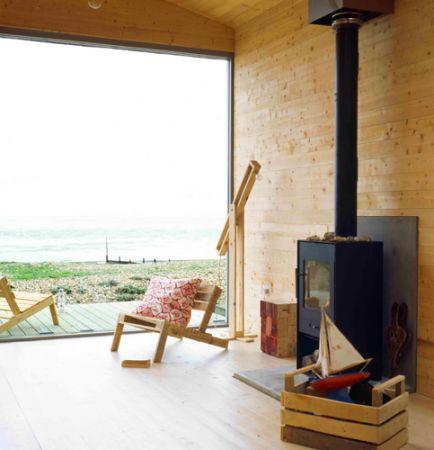 beautiful view from a modern beach hut...