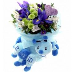Baby boy flowers delivery Gold Coast - blue Flowers