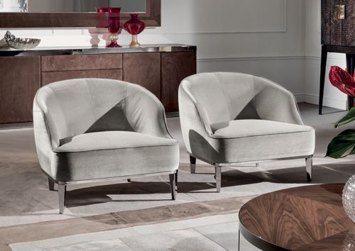 Modern Chairs: Small Armchair #Whitearmchair #Velvetarmchair