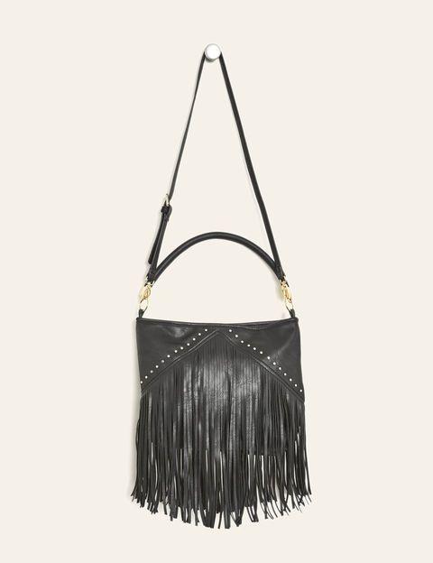 sac à main à franges noir