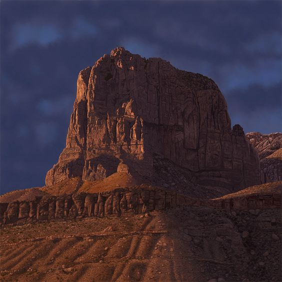 El Capitan - Guadalupe Mountains, Texas. Digital painting created in Photoshop. About 80 hours to complete.