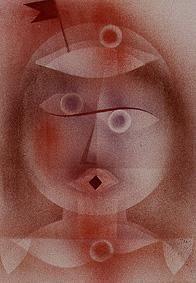 Bild:  Paul Klee - Maske mit Fähnchen