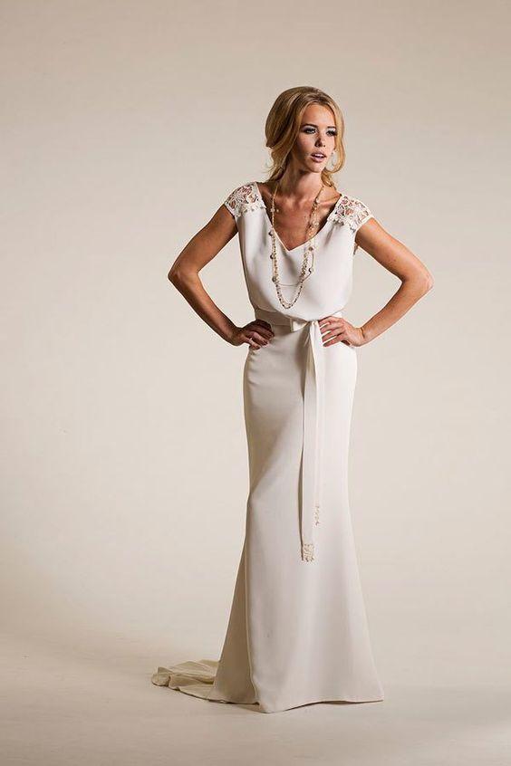 Simple Off White Wedding Dresses