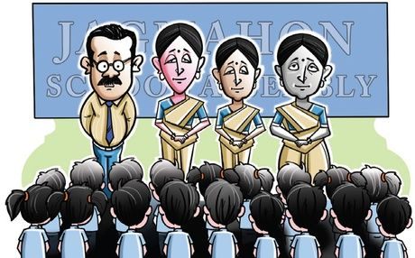 """#eChunav asks: A circular issued by the school education department, which urges teachers to be dressed in a """"decent manner"""", has evoked strong responses from teachers, who are offended by what they see as the officiousness of the message.  Should there be a dress code for teachers in school and colleges?  To answer,Click on the link below:  www.echunav.com/questions/view/should-there-be-a-dress-code-for-teachers-in-school-and-colleges"""