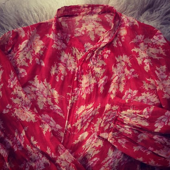 """From my private collection- #vintage #floral #cotton #blouse"""