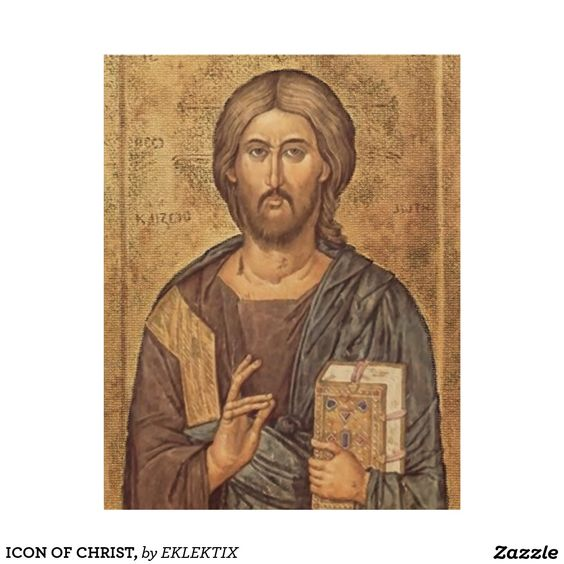 ICON OF CHRIST, WOOD WALL ART