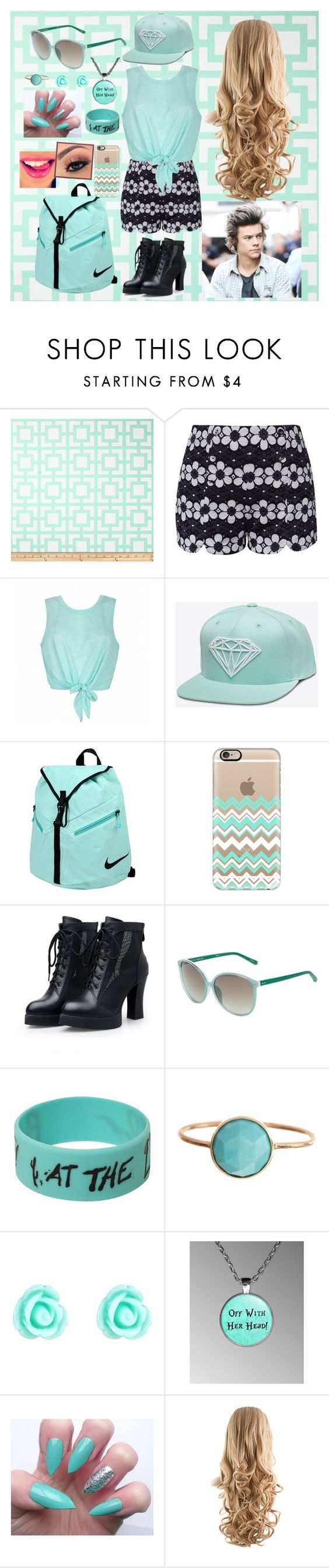 """School W/ Harry Styles"" by britishgirl98 ❤ liked on Polyvore featuring Ally Fashion, NIKE, Casetify, Linda Farrow, Ariel Gordon and Monsoon"
