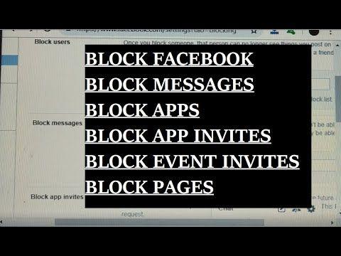 How To Block Facebook Facebook Users Facebook Pages Facebook Apps Fa Facebook Users Blocked On Facebook Event Invitation