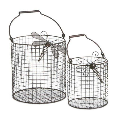 Find it at the Foundary - Set of 2 LED Lit Wire Baskets