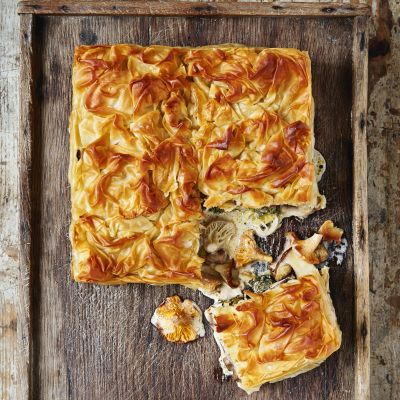 Chestnut and Mushroom Filo Pie#.VHR-ncJyY2o#.VHR-ncJyY2o