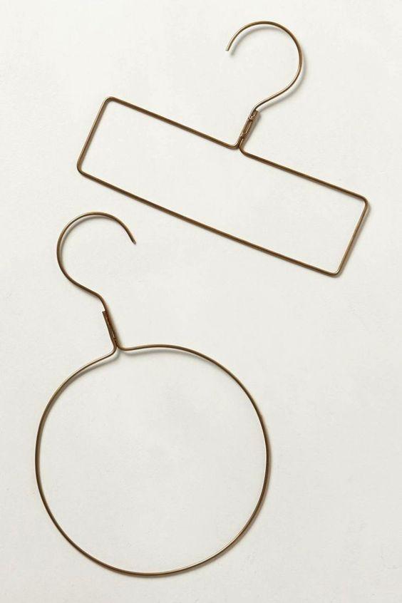 Scarf hanger from Anthropologie. Fog Linen Brass Hangers/Remodelista