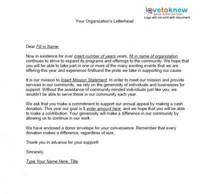 Travel Fundraising Letter  Sample Fundraising Support Letter For