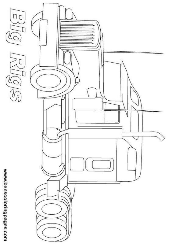 big rig truck coloring pages - big rig trucks coloring pages painting pinterest