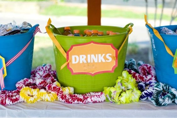 Luau party idea.