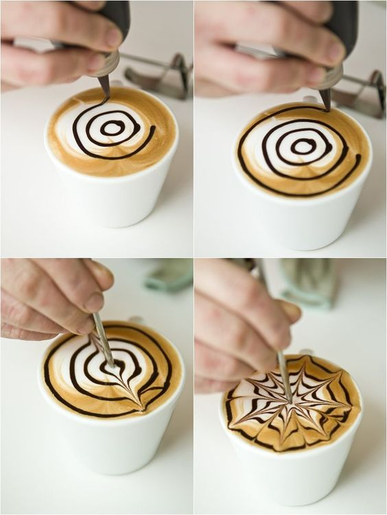 How to Make Coffee Art | Another form of coffee art is known as 'etching'. I took a ...: