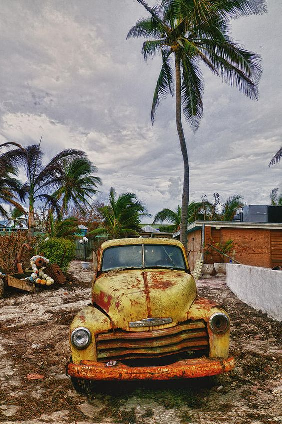 ✮ Old yellow truck - Florida