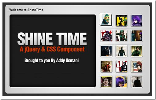 Awesome #jquery plugin with animated shine effect.